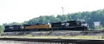 NS 2751 leads its power through the yard