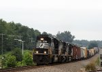 NS 6937 leads train 135 westbound with all units running long hood forward