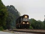 NS 6937 leads train 135 westbound past Oyama yard