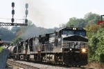 NS 9629 leads train 166 eastbound past the signals at Biltmore