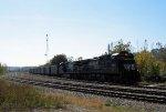 NS 8803 leads an empty coal train