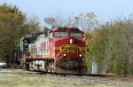 "BNSF 775 leads NS train 162 off the ""S"" line towards Linwood Yard"