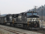 NS 9353 & 9605 are pushers on a loaded coal train