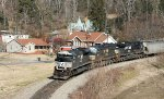 NS 2693 leads train 134 into town