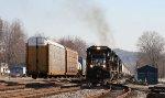 NS 8701 leads a grain train towards a meet with train 134