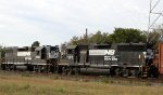 NS 7069 & 5060 push train PL05 into the yard
