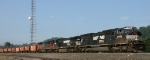 NS 2595 prepares to leave Asheville Yard with train 924