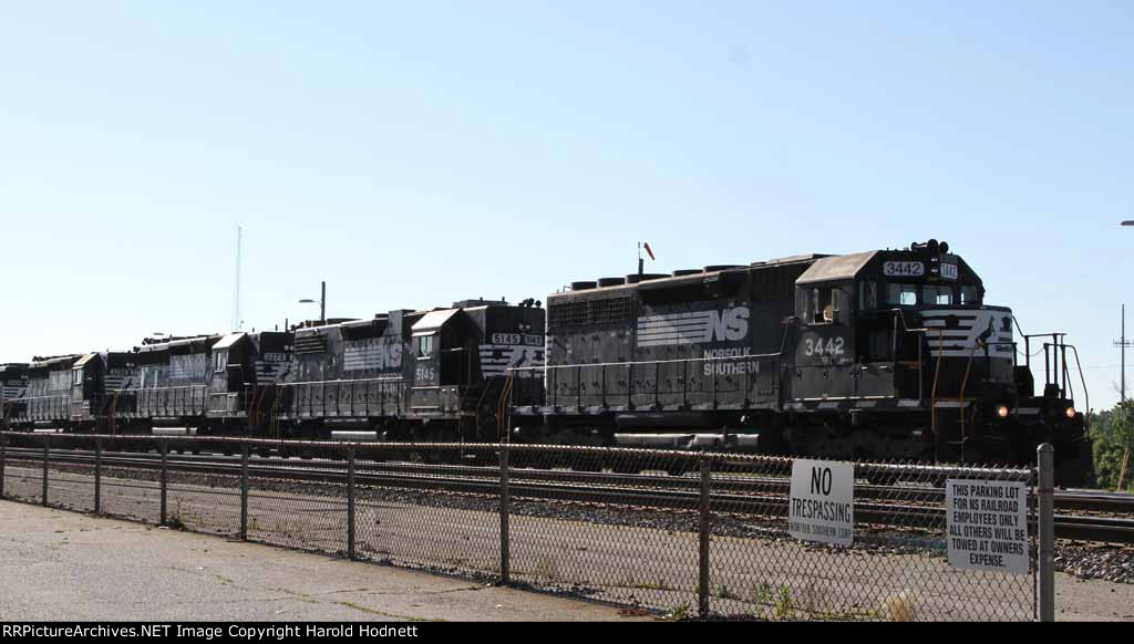NS 3442 leads an all-EMD lashup on train P84