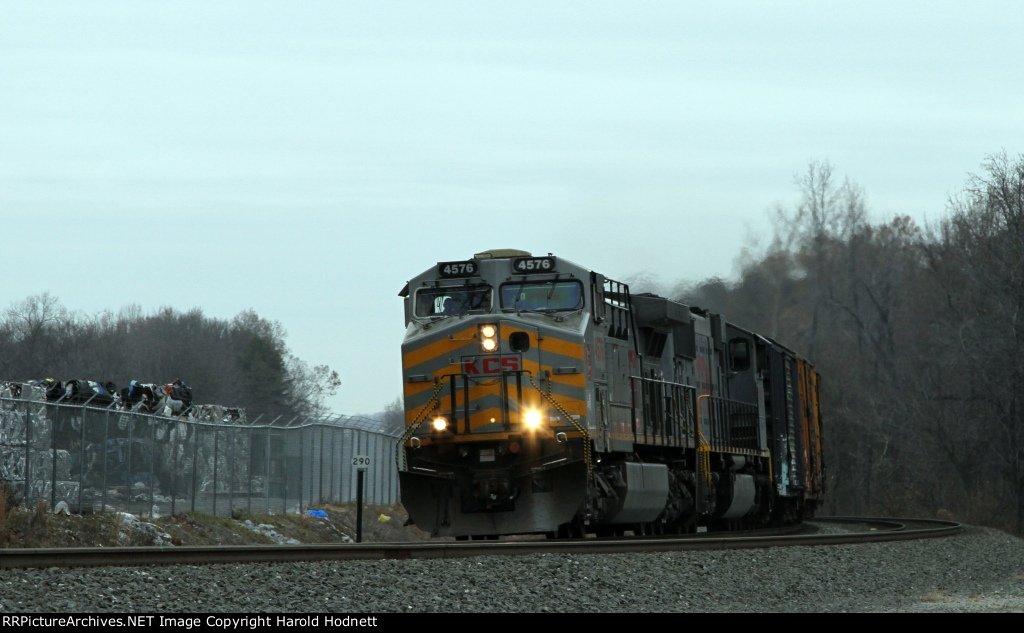 KCS 4576 leads train 159 past mp 290