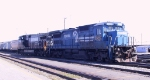 NS 8308 & 9420 pull away from their train in Pomona yard