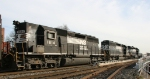 NS 1614 is the trailing unit on train 158 behind two SD40-2's