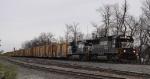 NS 6629 & 9907 lead train 75R (empty Railbox cars)