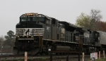 NS 2677 leads NS 9000 and train 218 towards the yard