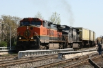 BNSF 1011 leads train 213 past the station at Elm