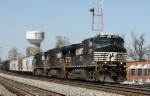 NS 9572 leads two other GE units on train 158