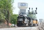 NS 7100 leads train 213