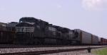 NS 9008 leads train 214 northbound at Pomona Yard