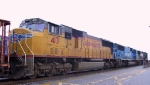 UP 4171 trails two NS units on a southbound train