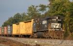 NS 9349 leads train 351 long hood forward towards Roanoke