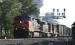 CN 2561 leads NS train 18M past the signals at Aycock