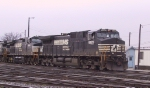 NS 9225 leads other GE units out of Pomona Yard