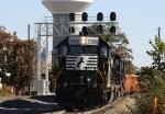 NS 5326 leads train P10 down the yard lead
