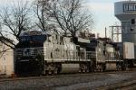NS 7641 & 8923 lead train 218 towards Pomona Yard