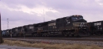 NS 9494 leads a long string of locos southbound