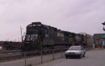 NS 8870 leads train 214 northbound past Pomona Tower