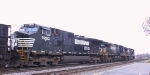 NS 9293 is in a trio of GE units in Pomona Yard