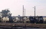 NS 8551 & 7070 share the yard with other locos early in the morning
