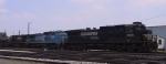 NS 8806 leads two other GE's in Pomona Yard