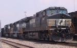 NS 9467 leads a southbound coal train through Pomona Yard