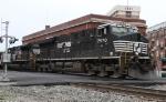 NS 7570 leads train 847 across Elm Street