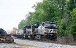 NS 9737 leads train 214 northbound