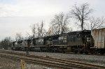 A quartet of C40-8's lead grain train 42G at Aycock