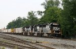 NS 7138 leads three other GP60's on train 214