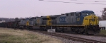 CSX 450 leads two other GE units on a coal train