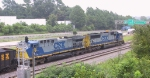 CSX 98 & 741 are in the siding with a loaded coal train