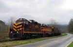 GSMR 1755 & 711 lead a train westbound