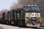 NS 9575 leads train 173 southbound