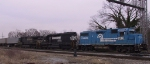 NS 5311 leads an intermodal train southbound