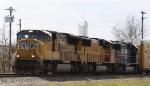 UP 3803 leads train 212 northbound