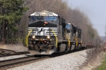 NS 7652 leads train P99 southbound