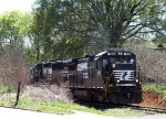 NS 540 leads train P92 at Yadkin Junction
