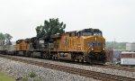 UP 7716 leads train 204 northbound