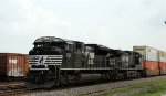 NS 2721 leads train P99 past the old yard