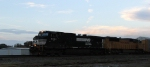NS 9361 leads train 290 northbound as the sun sets