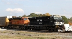NS 7583 leads BNSF 6041 and train 119 southbound