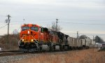 BNSF 7612 leads NS train 212 northbound